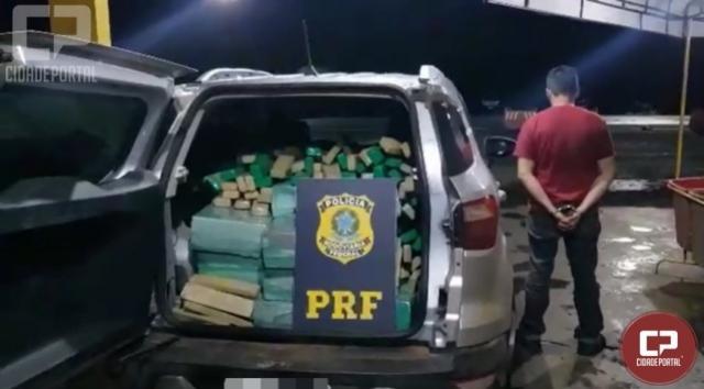 PRF prende traficante gaúcho com 631 quilos de maconha em Farol