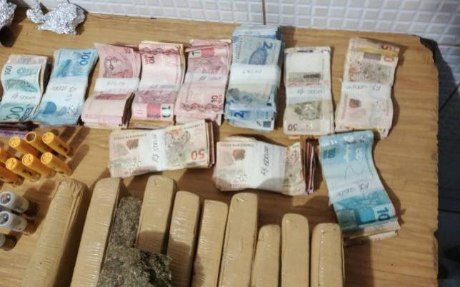 PM de Janiópolis captura general do tráfico e apreende grande quantidade de drogas e dinheiro