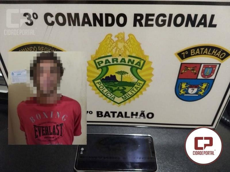 Polícia Militar prende ladrão que empurrou um adolescente para roubar o Celular