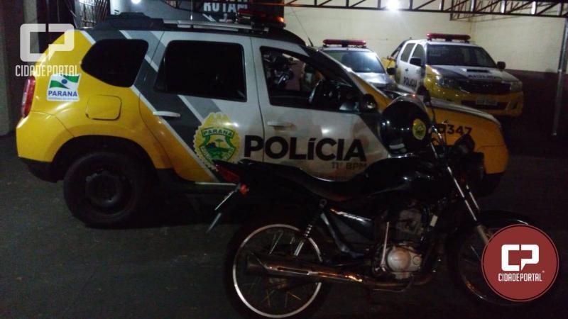 Polícia Militar recupera moto furtada no sábado, 11 em Ubiratã