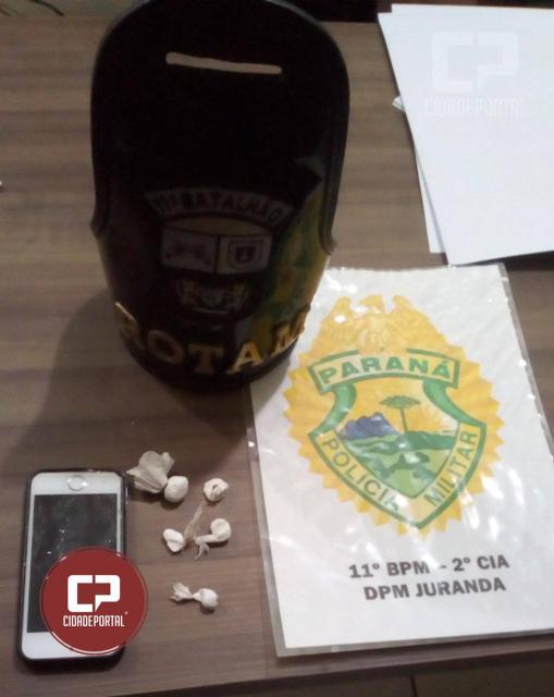 Polícia Militar de Juranda apreende drogas em festa realizada em Chácara da cidade