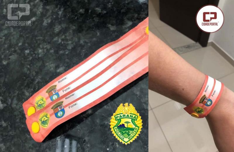 Crianças receberão pulseiras de identificação durante a Expo-Umuarama através da Polícia Militar
