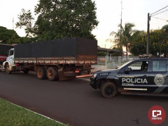 BPFron recupera em Altônia/PR, caminhão furtado em Curitiba/PR