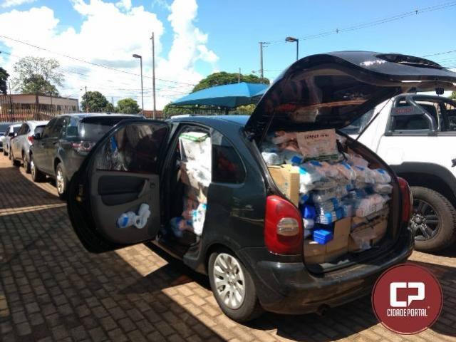 Polícia Militar de Umuarama realiza apreensão de agrotóxicos e diversos produtos oriundos do Paraguai