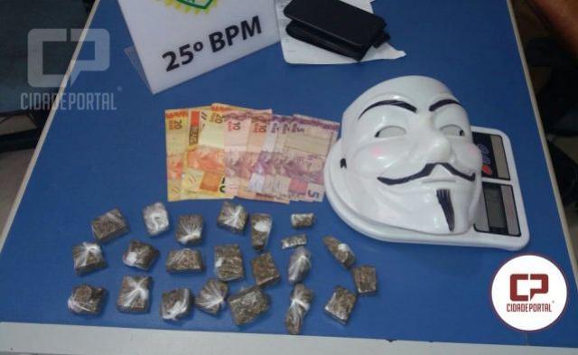 Durante patrulhamento de rotina, equipe ROTAM encaminha menor pelo crime análogo ao tráfico de drogas