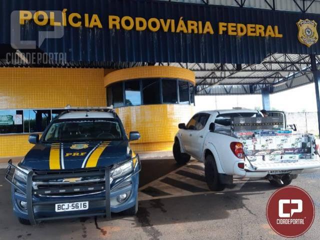 PRF apreendem 50 mil reais em essência de Narguile em Guaíra