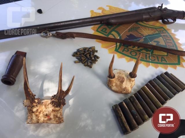 Uma pessoa foi presa com crânios de animais silvestres sem devida autorização em Iporã