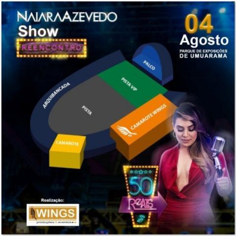 Naiara Azevedo realiza Show em Umuarama que terá parte da renda revertida para a Uopeccan