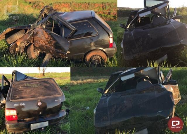 Homem morre após capotar veículo na PR-468 em Umuarama neste domingo, 21