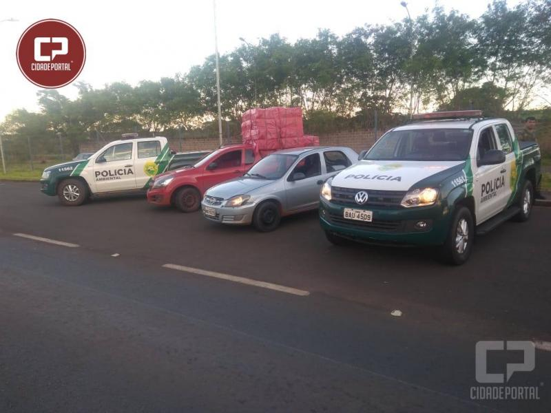 Equipe da Polícia Ambiental prende quatro pessoas e dois veículos com carga de cigarros contrabandeados em Altônia