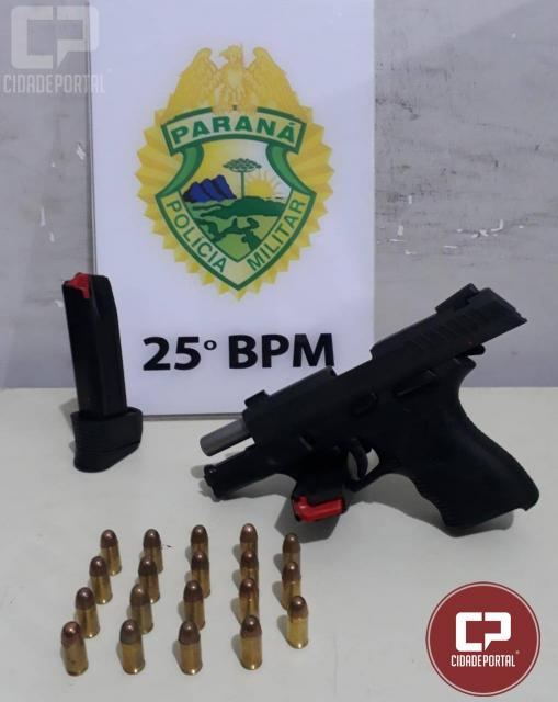 Polícia Militar de Umuarama prende homem por posse ilegal de arma de fogo