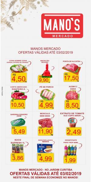 Final de Semana com Economia? vai para o Manos Mercado! - aproveite as ofertas até domingo dia 03