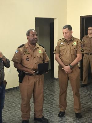 Comando, Oficiais, e Praças do 7º BPM homenageiam Policial que encerra carreira Militar