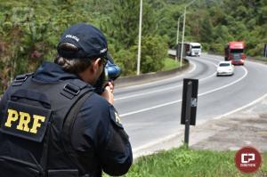 PRF flagra três mil motoristas acima da velocidade por dia no feriado de Ano Novo no Paraná