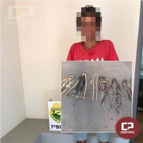 Autor de arrombamento em Moreira Sales é preso em Mariluz pela Polícia Militar