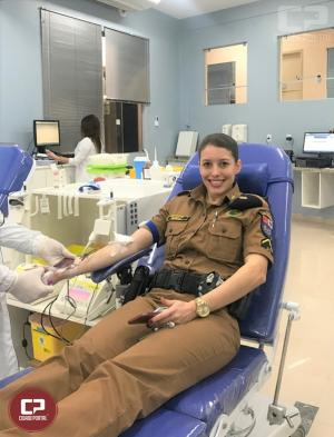 7º BPM realiza Campanha de Doação de Sangue em Comemoração aos 165 anos da Polícia Militar do Paraná