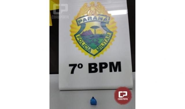 Polícia Militar apreende cocaína após denúncias em Cruzeiro do Oeste