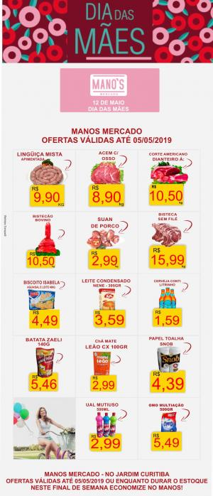 Final de Semana com Economia? vai para o Manos Mercado! - aproveite as ofertas até domingo dia 05
