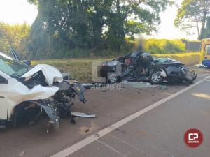 Acidente em Mamborê deixa uma pessoa gravemente ferida