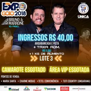 Expo-Goio: Camarotes e Vip para Bruno e Marrone esgotados
