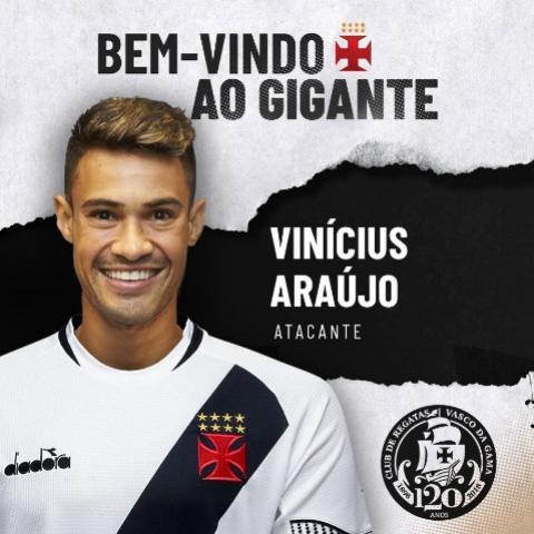 Vasco anuncia contratação de Vinícius Araújo, que estava no futebol espanhol