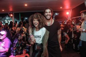 O festival de celebridades no primeiro finde do Rock in Rio - Sheron Menezzes e Saulo Bernard