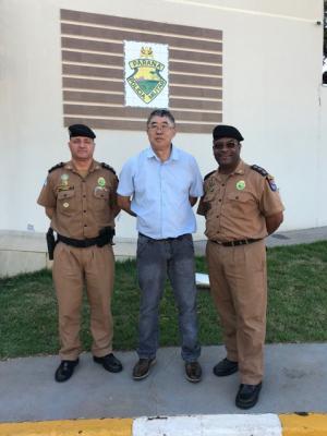 7° BPM recebe visita de ex militar da unidade que reside atualmente no Japão