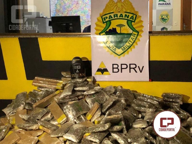 Rotam da 3ªCIA do BPRv apreende mais de 150 kg de entorpecentes em fundo falso carreta