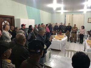Iniciando as atividades comemorativas aos 164 anos da PMPR , 7º BPM realiza encontro da velha guarda