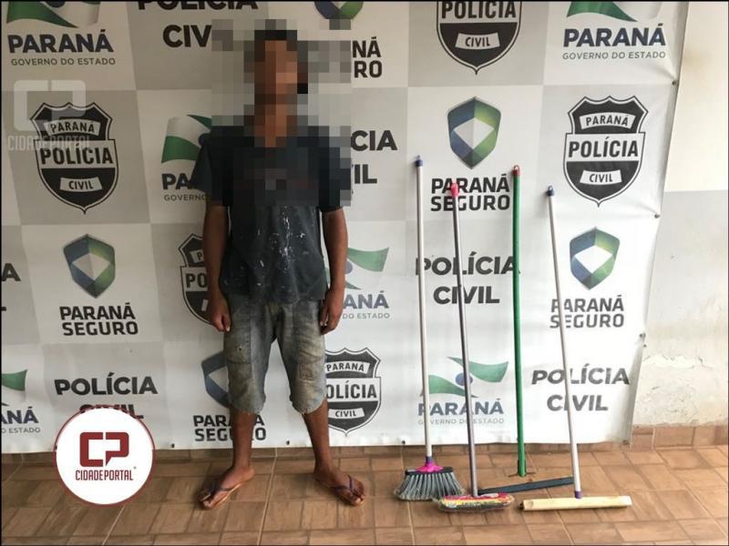 Polícia Militar reconhece e prende responsável de furto no CEEBEJA no mês de Outubro