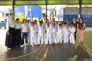 Projeto Karatê nas Escolas encerrou atividades em Jaracatiá com Exames de Faixas em Goioerê