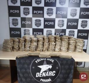 Policiais Civis do Denarc de Cascavel apreendem grande quantidade de maconha em Quarto Centenário