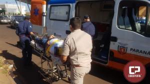 Acidente automobilístico deixa motoqueiro com ferimentos nesta quinta-feira, 05