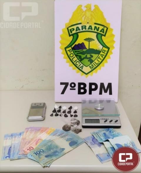 Polícia Militar encaminha três pessoas suspeita de tráfico de droga em Cruzeiro do Oeste
