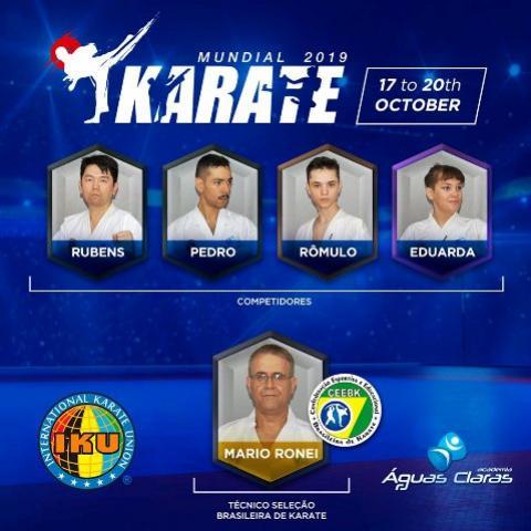 Alunos da Academia Águas Claras representará o Brasil na modalidade de karatê