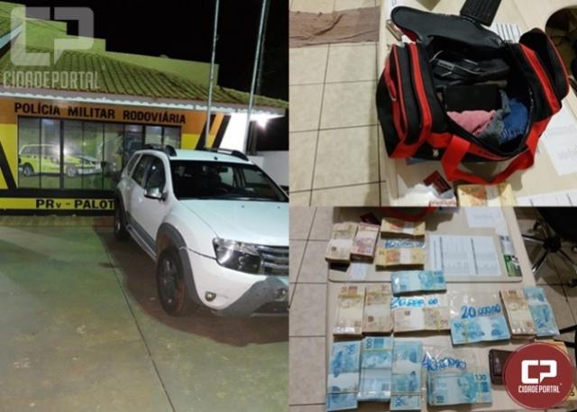 Polícia Rodoviária Estadual de Palotina apreende mais de 90 mil reais em fiscalização