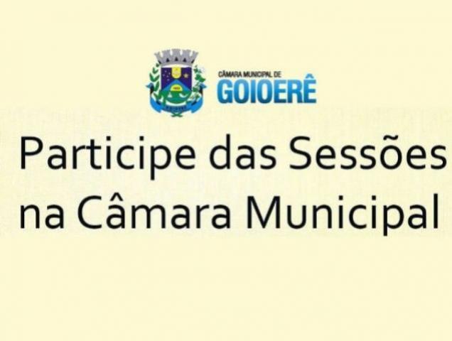 Câmara Municipal de Goioerê realiza duas sessões nesta quinta-feira, 07, às 11 horas