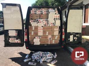 Polícia Militar de Tapejara apreende Van carregada com cigarros oriundos do Paraguai