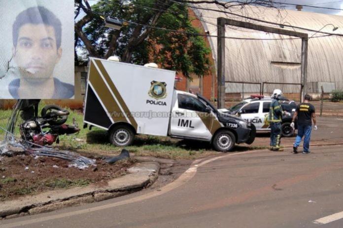 FATAL - Acidente entre carreta e moto matou motociclista em Maringá