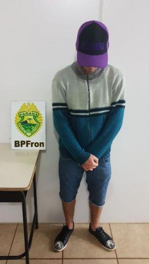 Policiais do BPFron prenderam autor do roubo a farmácia em Marechal Cândido Rondon