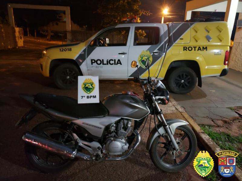 Policiais do 7º BPM, prendem autor de furto e recuperam veículo em Cruzeiro do Oeste
