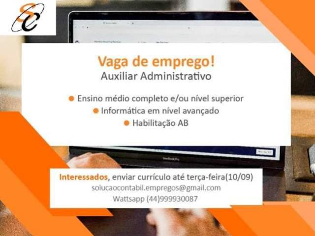 Oportunidade: Vaga de Emprego para Auxiliar Administrativo