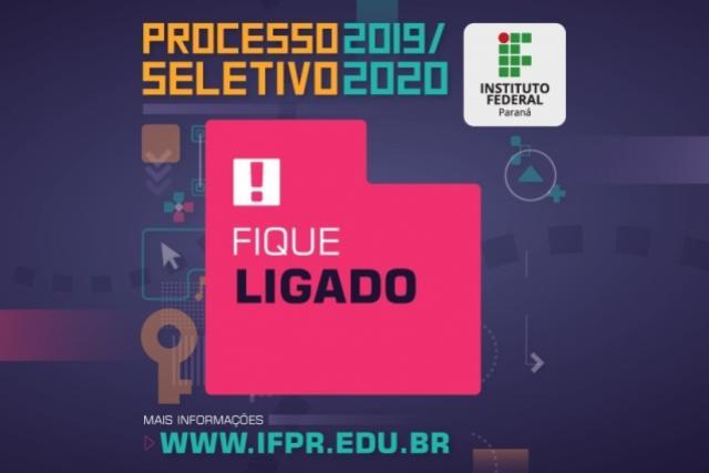 Publicada a lista provisória de inscritos do Processo Seletivo IFPR 2020