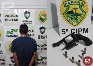 Homem é preso por posse ilegal de arma em Terra Boa