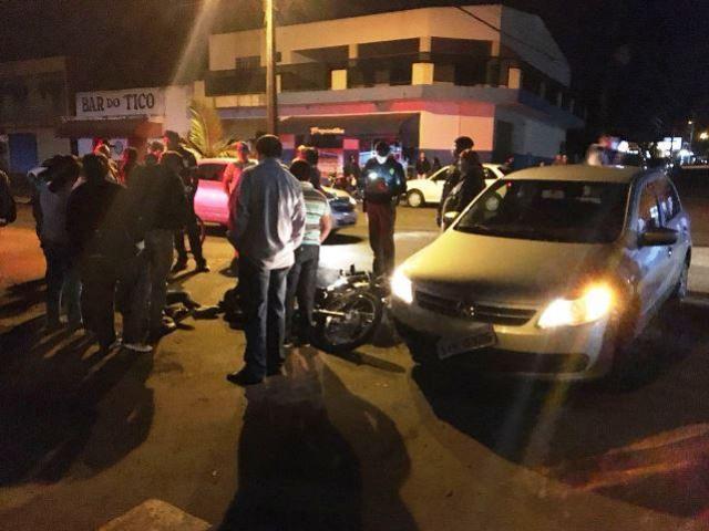 Uma colisão em Quarto Centenário deixa uma pessoa ferida