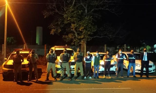 Polícia Militar e Fiscalização de Goioerê acabam com festa clandestina em chácara