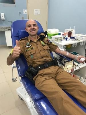 7º BPM realiza Campanha de Doação de Sangue em Comemoração aos 164 anos da Polícia Militar do Paraná