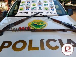 Polícia Ambiental de Umuarama prende uma pessoa por posse ilegal de arma em Itaúna do Sul