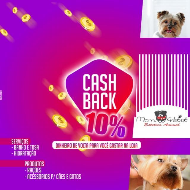 """Pet Shop Mon Petit de Goioerê lança campanha """"10% de Cashback"""""""