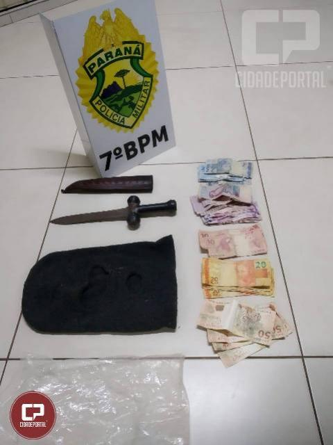 Policiais do 7º BPM prendem autor de roubo a bar em Cidade Gaúcha